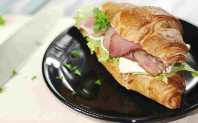 Bacon, Cheese and Avocado Croissant